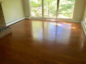 water damage repairs in living room