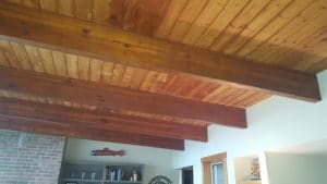 T&G Ceiling and Wood Beams
